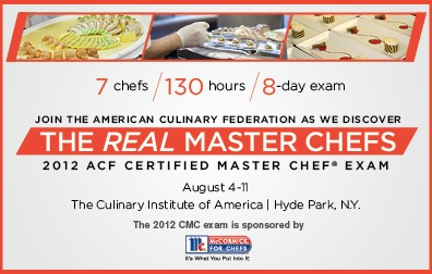 2012 ACF Certified Master Chef Exam