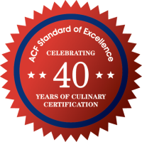 ACF Standard of Excellence:  celebrating 40 years of culinary certification