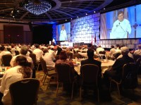 Michael Ty, ACF national president, welcomes attendees at General Session I
