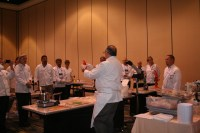 Jean Yves Vendeville teaches chefs how to create showpieces