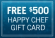 Free $500 Happy Chef Gift Card