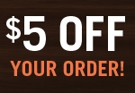$5 Off Your Order