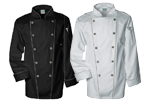 Black and white chef coats