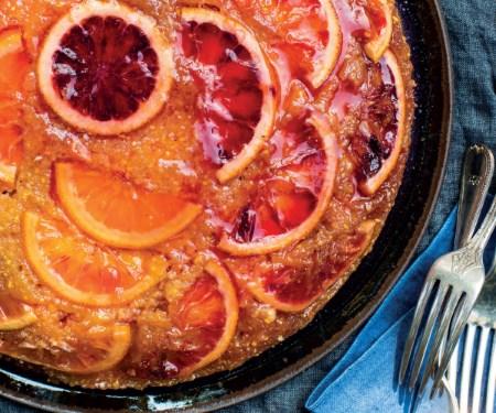 Blood Orange And Olive Oil Polenta Upside Down Cake