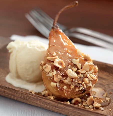 Caramelized Bosc Pear with Hazelnut Butter