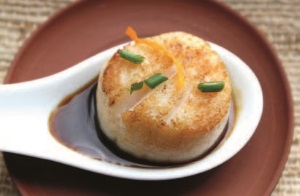 Tea-sauced Scallop with Orange, Soy and Honey