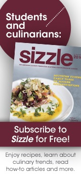 Students and culinarians:  subscribe to Sizzle for free!