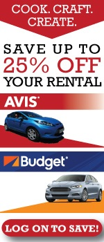 Cook. Craft. Create. Save up to 25% off your rental from Avis & Budget. Log on to save!