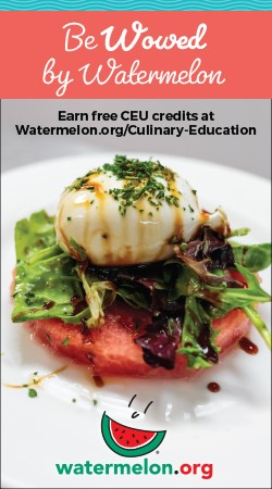 Be Wowed by Watermelon - Earn free CEU credits at Watermelon.org/Culinary-Education