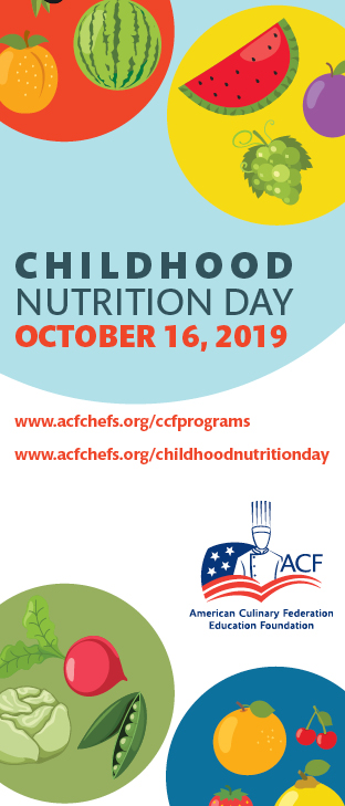Chef and Child Childhood Nutrition Day