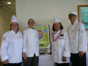 Chefs with MyPlate Sign