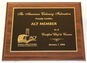 ACF Certification Plaque