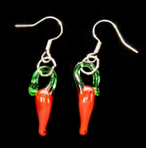 Red Hot Chili Pepper Earrings - ON SALE