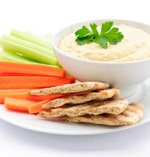 Vegetable sticks, crackers, 