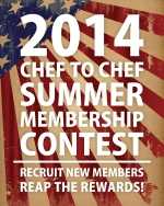 2014 Chef to Chef Summer Membership Contest flyer
