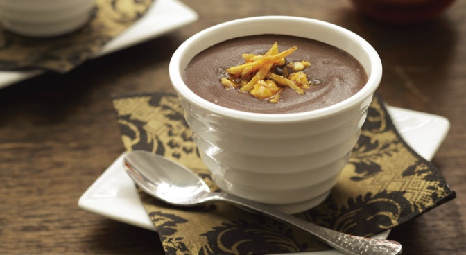 Chocolate Idaho® Potato Soup with Potato Peanut Clusters