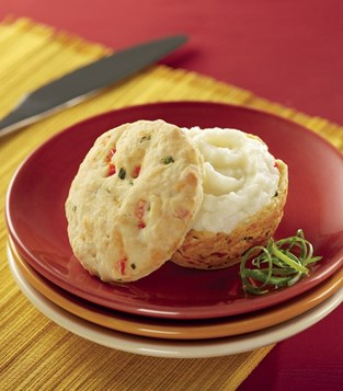 Golden Biscuits with Creamy Mashed Idaho® Potato Center