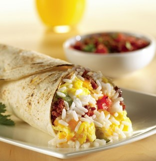 Chorizo, Rice and Egg Wrap