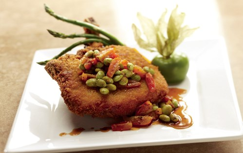Panko/Soy Nut-Crusted Pork Chop