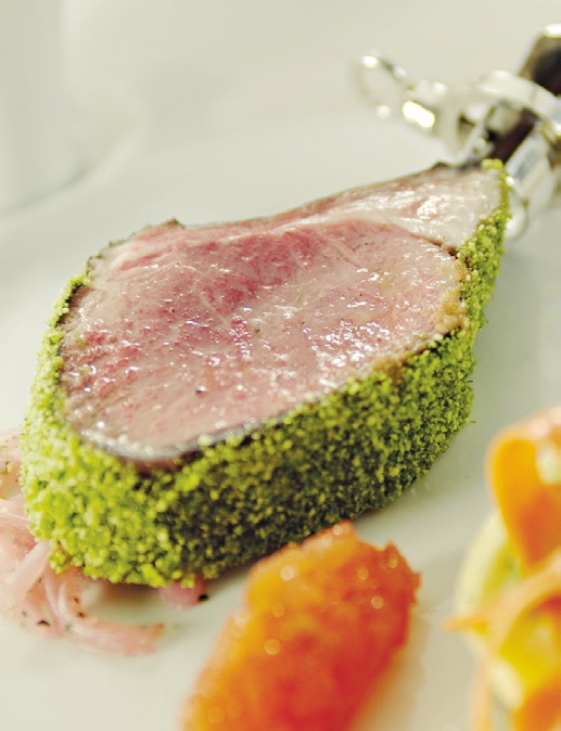 Red Wine Poached Rack of Lamb