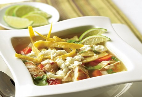 Mexican-Style Chicken Soup with Queso Fresco