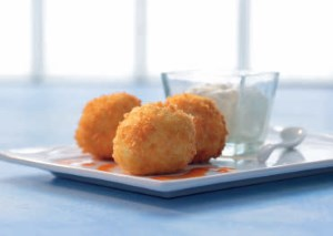 Idaho® Potato and Chicken Croquettes with Idaho® Potato-based Aioli and Spicy Paprika Oil