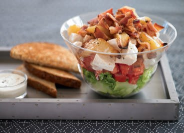 Pear and Chicken BLT Salad