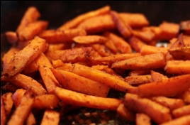 Sweet Potato Fries w/ a Sweet and Savory Tossing