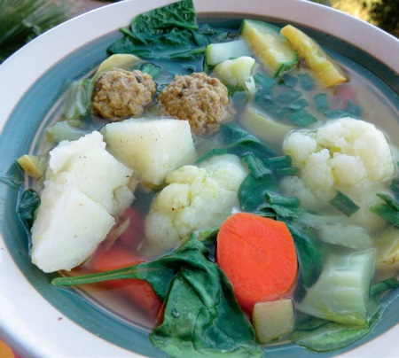 Middle Eastern Meatball and Vegetable Soup
