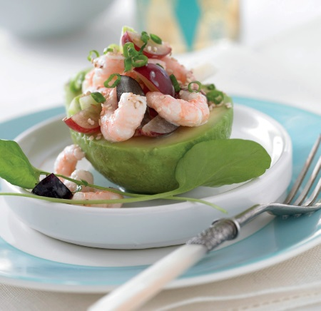 Coastal Salad with Grapes and Shrimp