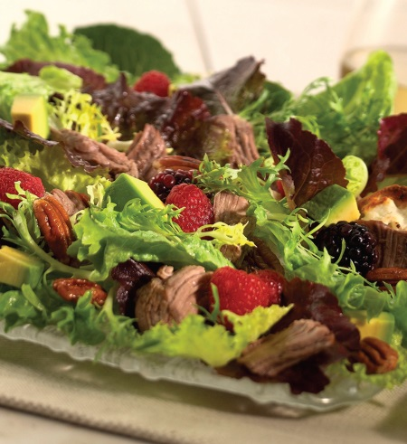 American Lamb and Berry Salad with Avocados