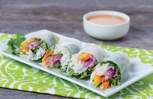 Thai Salad Rolls with Peanut Dipping Sauce