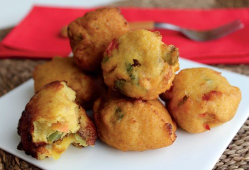 Corn and Pepper Fritters