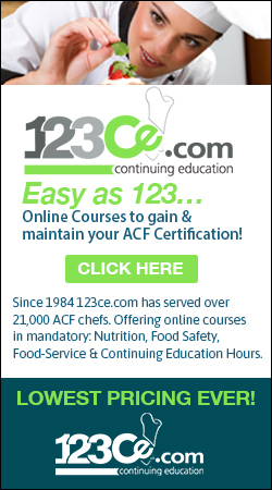123cecom continuing education easy as 123 - Sous Chef Education Requirements